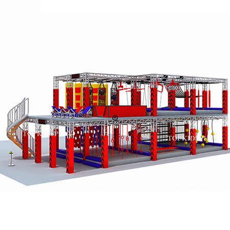 American ninja warrior gym multi-level course manufacturer
