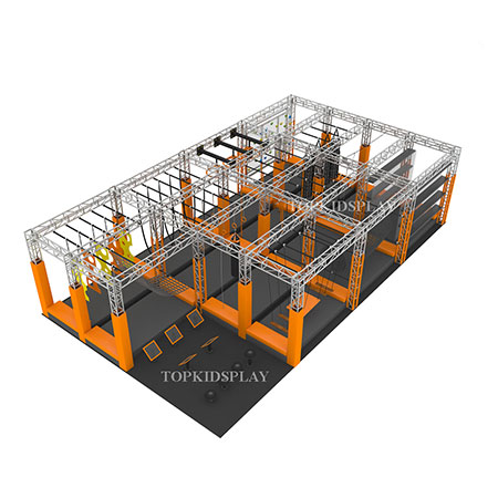 USA indoor ninja obstacle course ninja zone equipment